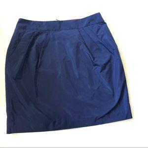 Banana Republic taffeta pleated pocket skirt NWT